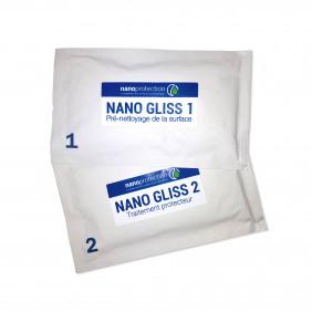 Nano Gliss 1/2 - Nettoyant + Traitement nano sous forme de lingettes prêtes à l'emploi