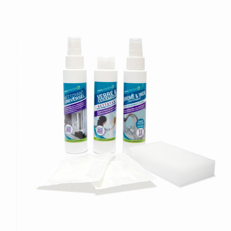 Kit anti tache pour chrome et inox