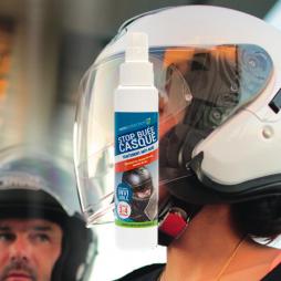 Traitement anti-buée spécial casque de moto