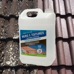 Traitement hydrofuge anti-mousse pour toitures et façades