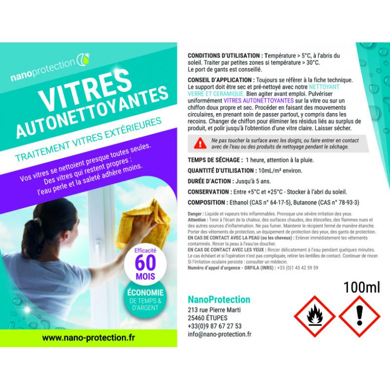 traitement vitres autonettoyantes