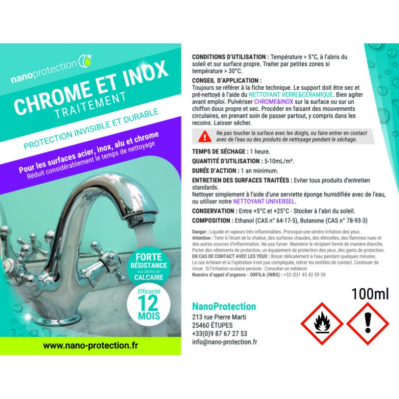 Traitement protection Chrome & Inox
