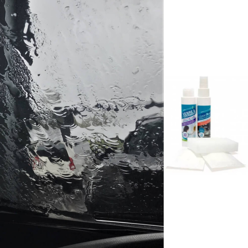Kit anti pluie pour pare-brise/vitres