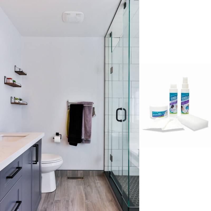 Kit protection anti-calcaire et anti-saletés pour sanitaires