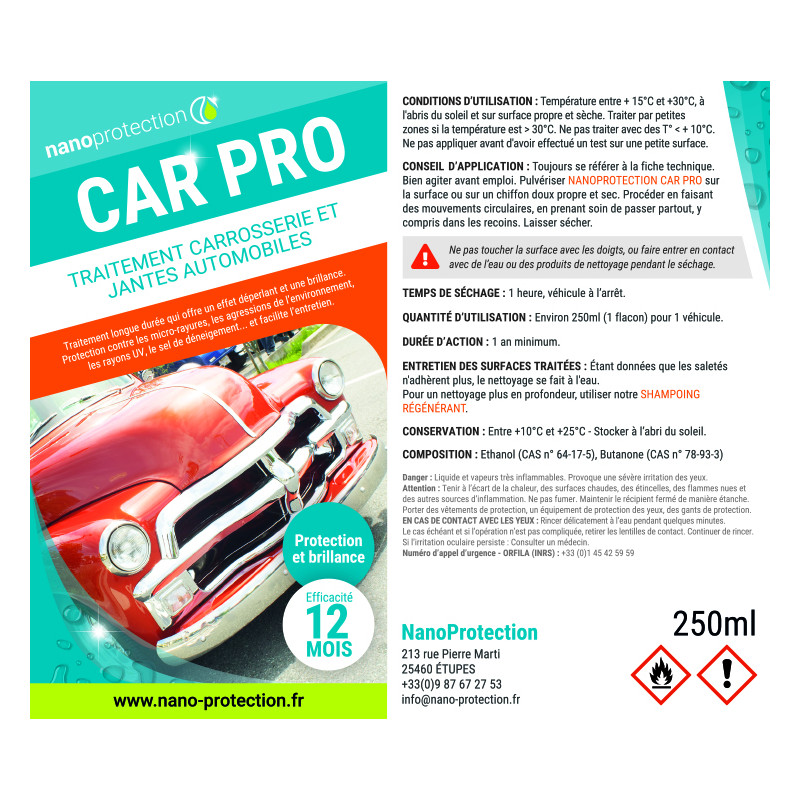 Car pro protection carrosserie hybride céramique