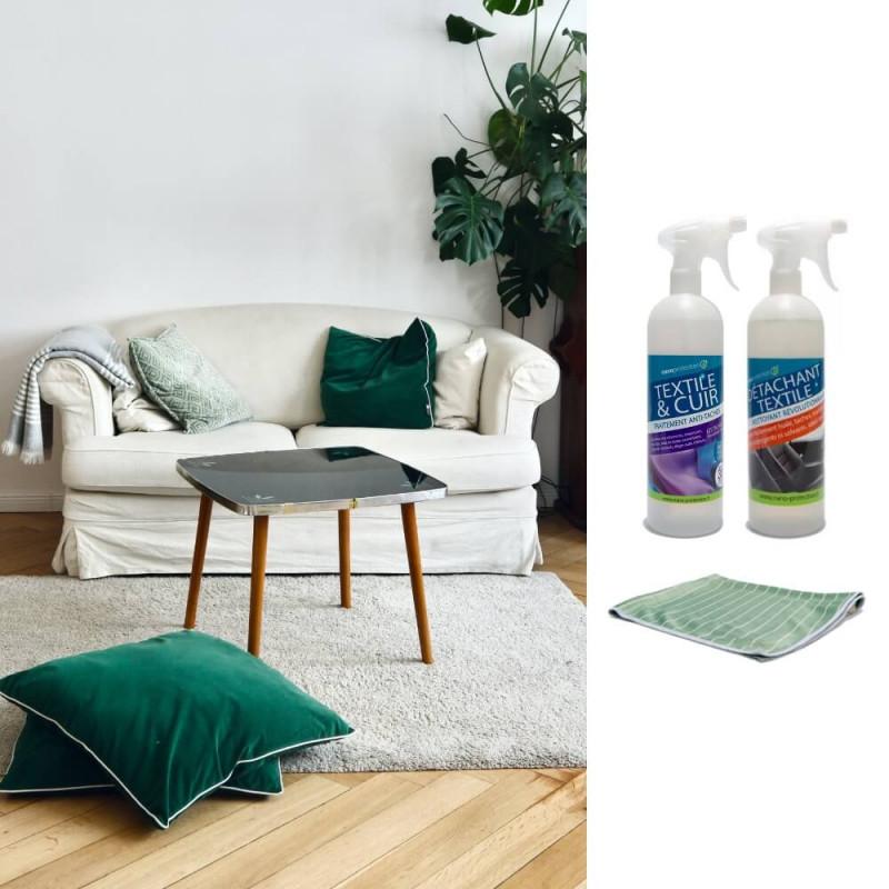 Détachant biodégradable textiles pour canapé